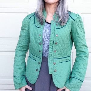 TULLE green cotton quilted jacket M (F5)
